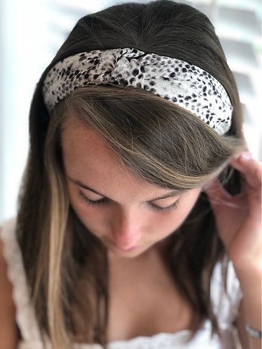 Brown Snakeprint Knotted Headband