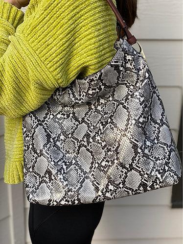 Snakeskin Hobo Bag