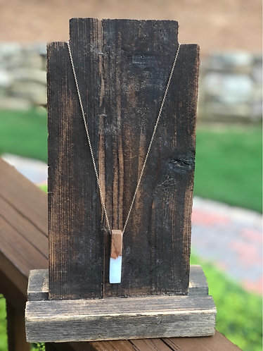 Long Rectangle Wooden/Acrylic Necklace