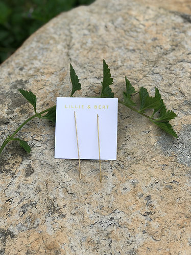 Simple Gold Rod Earrings