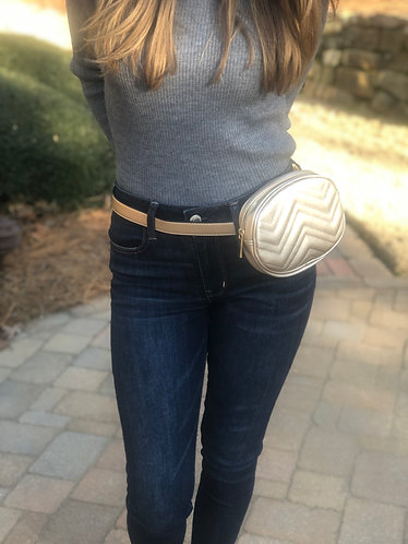 Morgan Gold Quilted Fanny Pack