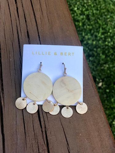 Wooden Circle Dangle Earrings