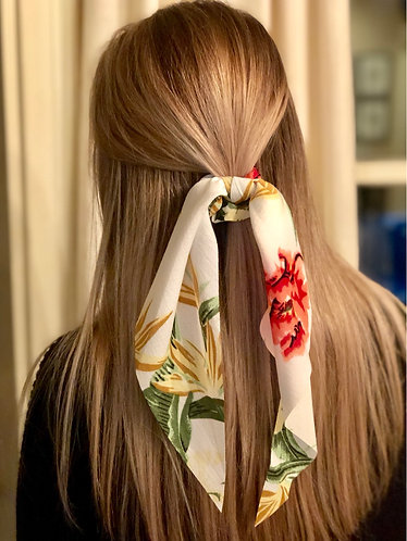 Floral Scrunchie Hair Scarf