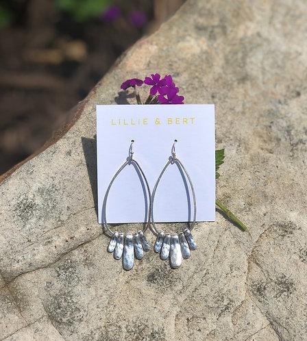 Worn Silver Cinco Earrings