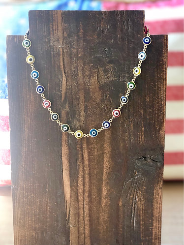Multi Evil Eye Choker