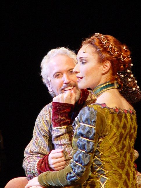 """as Guenevere in """"Camelot"""", The Shubert Theatre, Boston (with Joe Dellger)"""