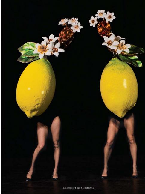 Laurie Simmons film photo shoot. Nili far left lemons!