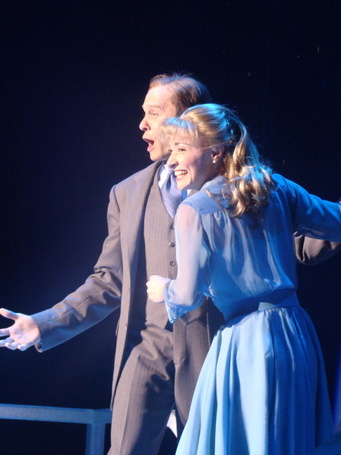 """as Niki in """"Curtains"""" on Broadway (with David Hyde Pierce)"""