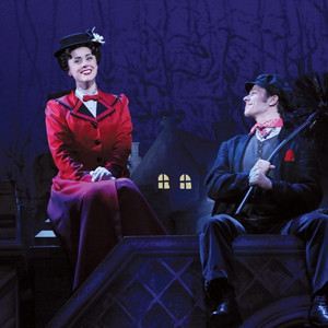 Megan Osterhaus as Mary Poppins with Bert