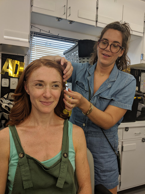 """in the hair and make-up chair on the set of NBC's """"Blacklist"""""""