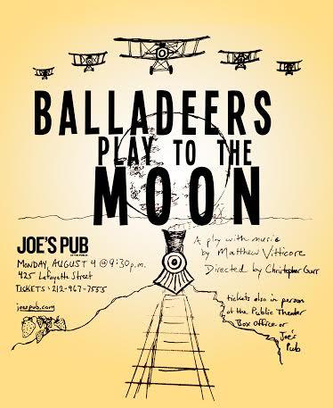 promo poster mock up for Joe's Pub