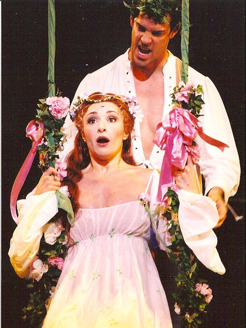 """as Guenevere in """"Camelot"""", The Shubert Theatre, Boston (with Jeremy Stolle)"""