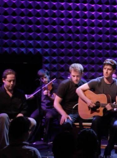 David Lanson, Geoff Packard, Matthew Vitticore, and Nili Bassman with the band:  Mat Fieldes, Max Smith, and Joe Abbatantuono