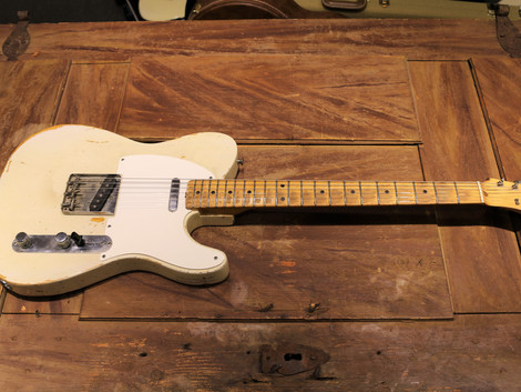 Såld, Begagnad Fender Telecaster från 1957, makalöst bra!, 129999:-