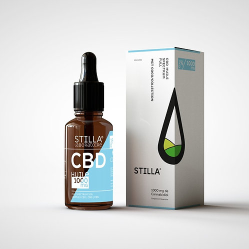 HUILE MCT CBD 10%-1000MG STILLA® FULL SPECTRUM