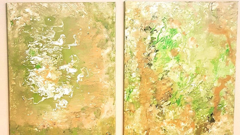 Dream Green canvas 16x20
