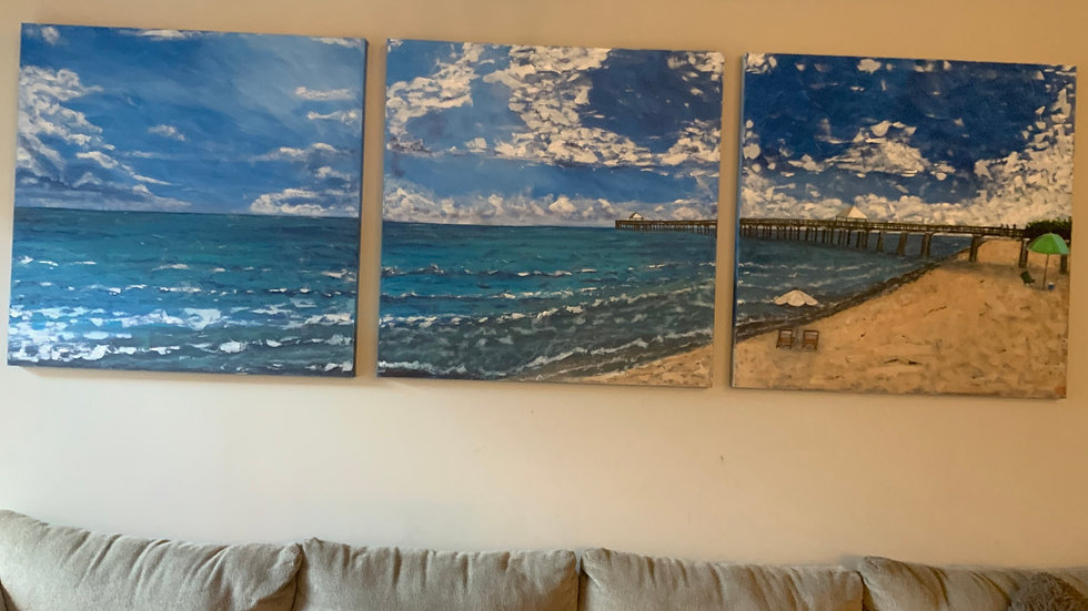 Juno Beach Canvas 36x36