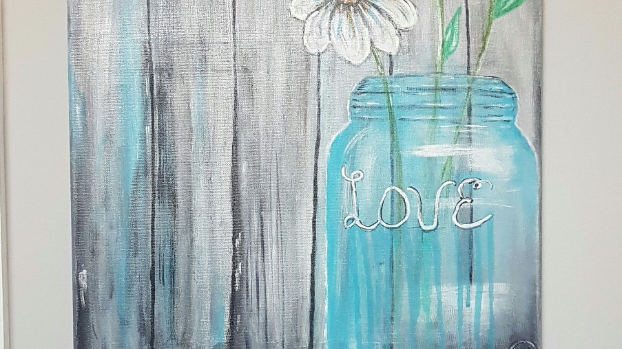 The  Blue Beauty of love canvas 18x24