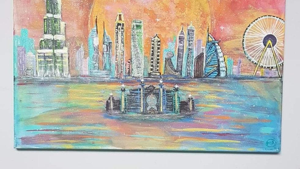 Dubai painting Canvas 16x20