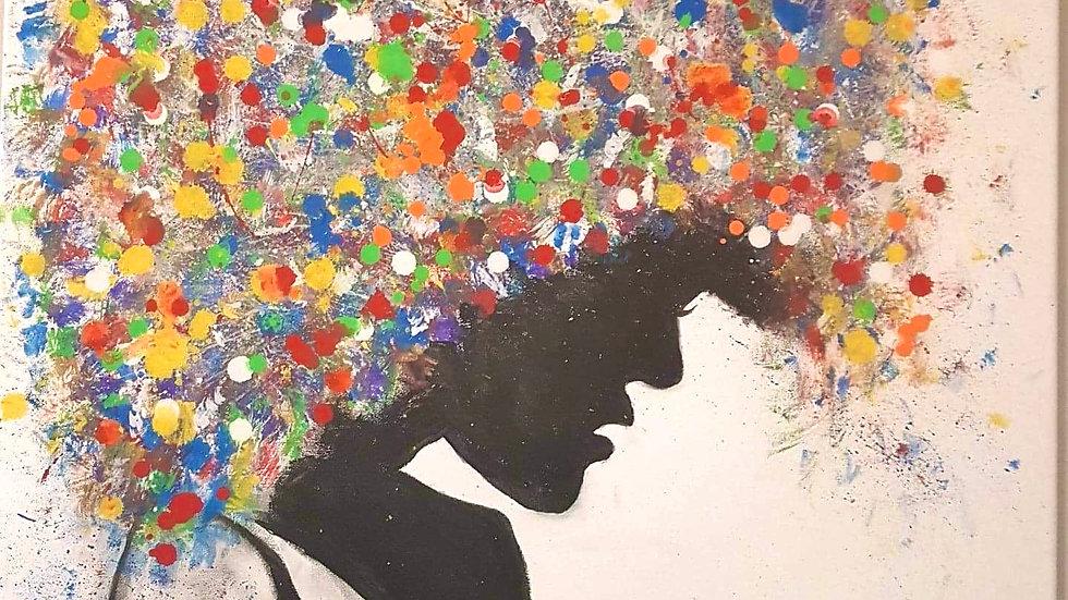 Thinking Beauty Canvas 24x30