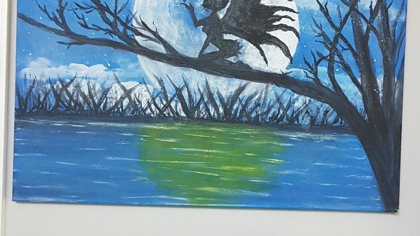 Silhouette fairy  Canvas 18x24