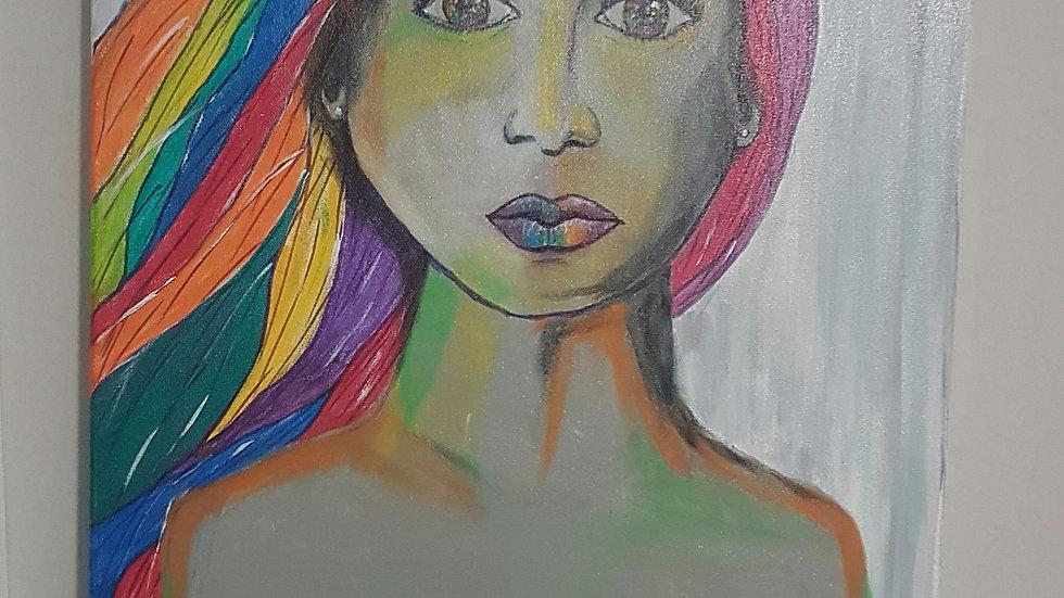 Rainbow Beauty Canvas 18x24