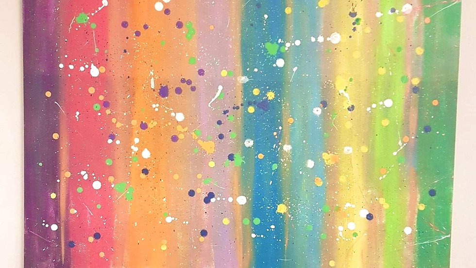 Running Colors canvas 24×30