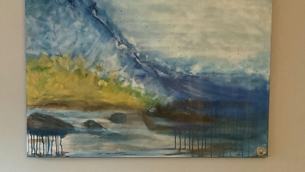 Blue Ocean Breeze Canvas 30x40