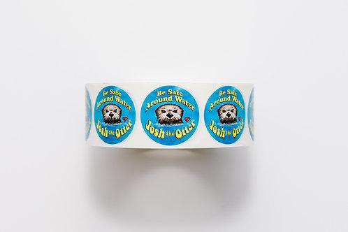 Josh the Otter Badge Stickers