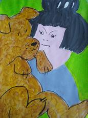 my grandaughter and her dog lockdown.jpg