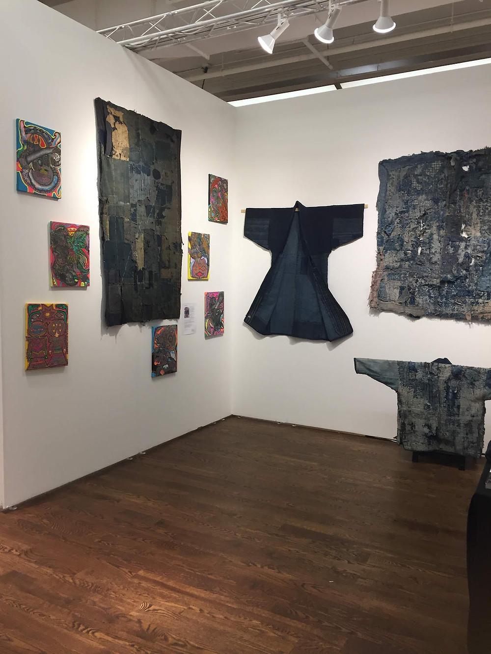 Atusko Barouh's booth, Outsider Art Fair 2019, New York