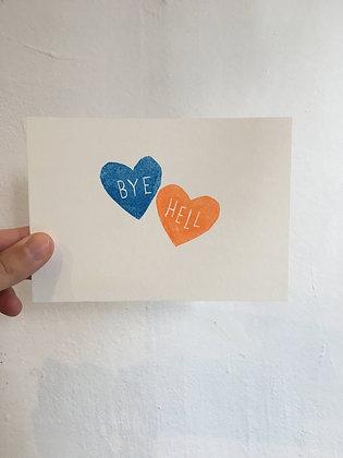 Ta douce - Carte BYE bleu et orange