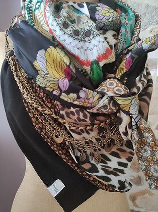 CR Creative - foulard concept réversible avec collier/ceinture incorpor