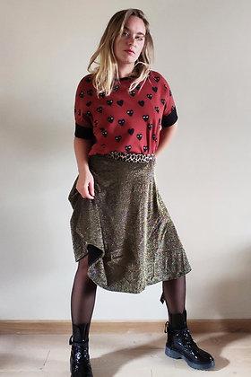 CR Creative - midday skirt - black/Gold