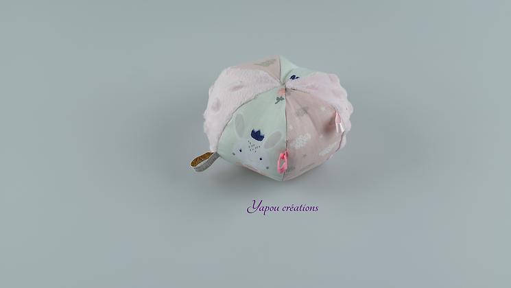 Yapou Créations - Balle ludique - Rose pâle