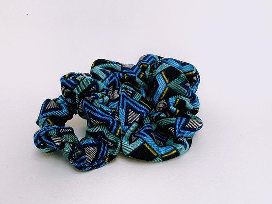 Presse Papier Ciseau - Chouchou bleu turquoise et motifs