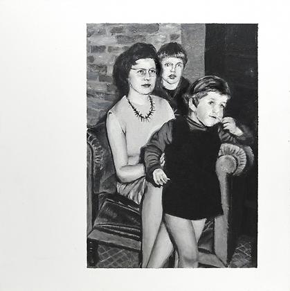 "Gerda Van Damme - Peinture ""The way we were, Dendermonde,  1966"""