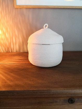 Laen - Panier Coton, boîte avec couvercle L
