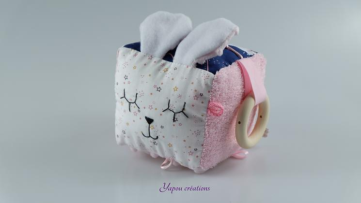 Yapou Créations - Cube d'éveil +++  - Rose étoilé