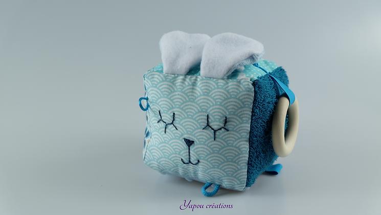 Yapou Créations - Cube d'éveil +++  - Turquoise