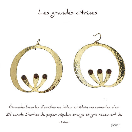 So Sol and Sea - Boucles d'oreillle Citrine