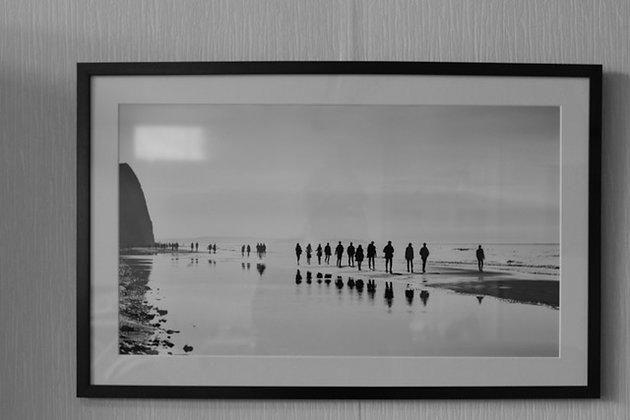 """Benoit De Clerck - Photo """"Personnages sur la plage"""" (40/60)"""