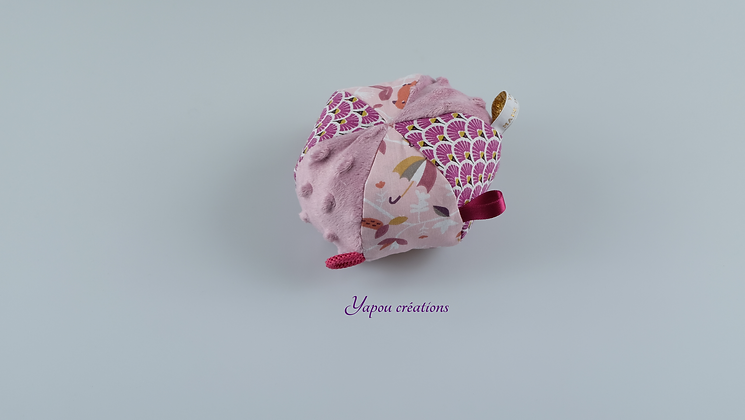 Yapou Créations - Balle ludique - Fuschia