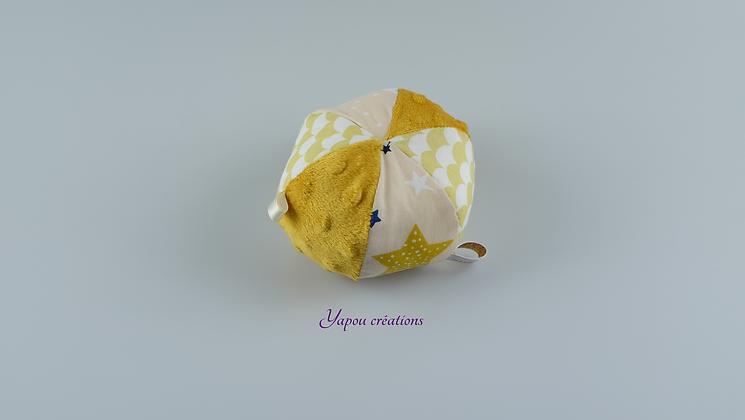Yapou Créations - Balle ludique - Jaune