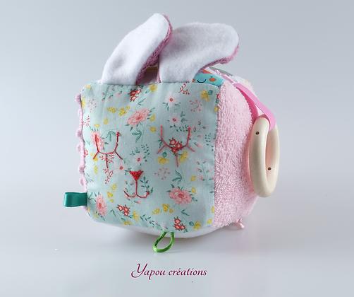 Yapou Créations - Cube d'éveil - Fleuris