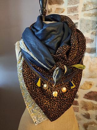 CR Creative -foulard concept réversible avec collier/ceinture incorporé