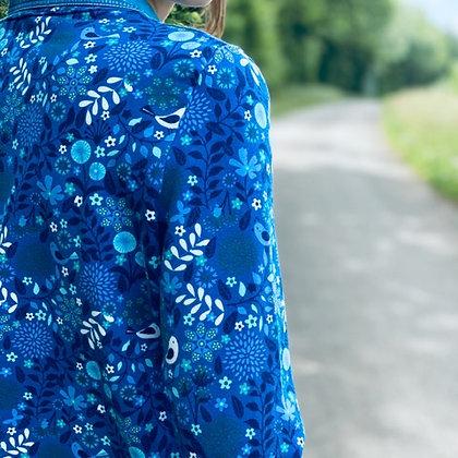 POP DAY - Pull bleu avec motifs nature taille 38
