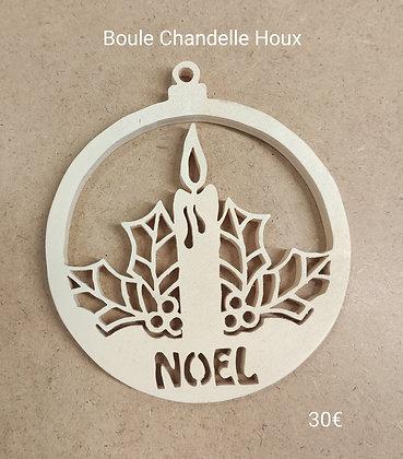 Slowgame - Boule Noël chandelle houx