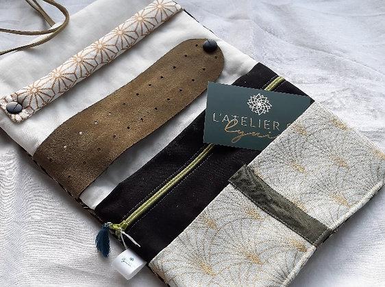 Atelier de Lynie - Pochette à bijoux Jaïna verte