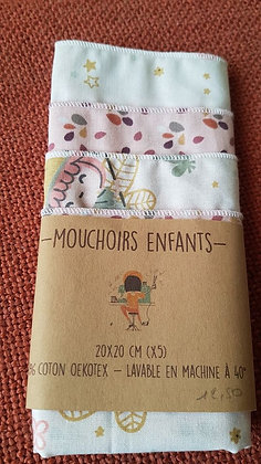 NondiDjoul! - Pack de 5 mouchoirs enfants assortis